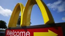 A McDonald's restaurant sign is seen at a McDonald's restaurant in Del Mar, California April 16, 2013. (MIKE BLAKE/REUTERS)
