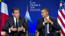 French President Nicolas Sarkozy has been trying to get U.S. President Barack Obama on board his renewed push for a global financial transaction tax. (DSK/AFP/Getty Images)