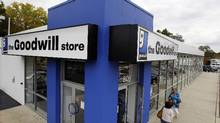 """Shoppers enter a Goodwill store in Paramus, N.J. in this file photo from Oct. 14, 2010. After a nearly 80-year history, Southern Ontario-area Goodwill stores suddenly closed their doors on Sunday because of what their CEO called a """"cash-flow crisis."""" (Mel Evans/AP)"""