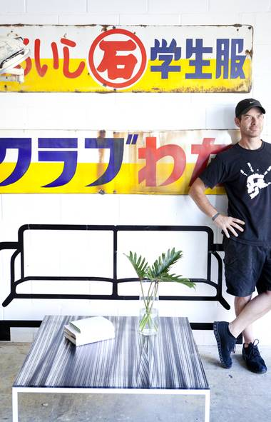 For Jason Stroud's punk rock-meets-Posh Spice furniture and light fixtures – on display at his recently opened Toronto showroom – the designer scours junkyards, vintage shops and garage sales for raw goods (old signs, broken doll parts, scrap lumber). He retains the patina of what he digs up to create a sense of nostalgia, and adds grace with slick materials like steel and glass. But the work – a chandelier made from century-old piano keys or a clean-lined bench with a salvaged timber top – draws its inspiration from an unlikely source: Stroud's collection of kaiju: air-brushed, vinyl figurines of fantastical Japanese monsters.