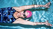 Nancy Black, a personal swim trainer, demonstrates how to complete correct turns while swimming laps on April 28, 2011. (JENNIFER ROBERTS/JENNIFER ROBERTS FOR THE GLOBE AND MAIL)
