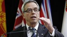 Finance Minister Joe Oliver speaks in Ottawa on Dec. 15, 2014. (CHRIS WATTIE/REUTERS)