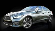 Online shopping website Gilt.com will sell two 2014 Q50 luxury sports sedans, one designed by Thom Browne and the other by Zac Posen. (Nissan)