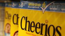 Boxes of Cheerios cereal, made by General Mills, sit on the shelf at a grocery store in Berkeley, Calif. (Justin Sullivan/Justin Sullivan/Getty Images)