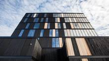 At 29.5 metres and clad in charred western red cedar, the Wood Innovation and Design Centre in Prince George, B.C., is the tallest contemporary wood structure of its type in North America. (naturally:wood)