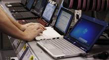 Netbook computers are seen on display at Best Buy in Mountain View, Calif (Paul Sakuma)
