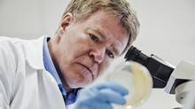 Microbiologist Sylvain Moineau was part of a team that first discovered the anti-virus defence in bacteria known as CRISPR. (Martin Lipman/NSERC)