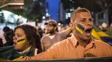 Protestors march in Rio de Janeiro on June 24, 2013. (Felipe Dana/AP)