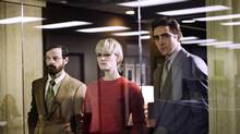 Scoot McNairy, Mackenzie Davis and Lee Pace star in Halt and Catch Fire, where the cowboys and outlaws are involved in the computer racket.