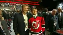 Martin Brodeur and his son, who was drafted by the New Jersey Devils