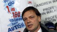 Since the controversial paper by British surgeon and medical researcher Andrew Wakefield, pictured, was published, British parents abandoned the vaccine in droves, leading to a resurgence of measles. Subsequent studies have found no proof that the vaccine is connected to autism, though some parents are still wary of the shot (LUKE MACGREGOR/Luke MacGregor/Reuters)