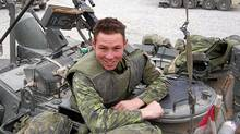In this submitted photo, Cpl. Stuart Langridge is shown in Afghanistan. A military hearing was held Thursday into his suicide by hanging in 2008. (Submitted photo)