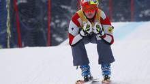 Canadian national ski cross team member Marielle Thompson, from Whistler, B.C., trains at Nakiska ski resort in Kananaskis, Alta., Thursday, Dec. 6, 2012. (Jeff McIntosh/THE CANADIAN PRESS)