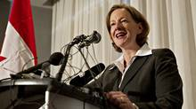 New Alberta Premier Alison Redford has been shaking things up since she was elected early in October - and she could continue that trend by re-shaping the province's Public Affairs Bureau. . She's pictured speaking during a press conference in Edmonton on Oct. 2, 2011. (Jason Franson for The Globe and Mail/Jason Franson for The Globe and Mail)