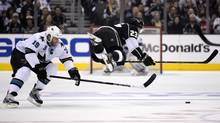 While the Kings may have the momentum, San Jose has a distinct edge on home ice, losing only twice there to Los Angeles in their previous 14 meetings. (THE ASSOCIATED PRESS)