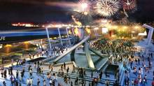 An artist's conception of Vancouver's planned New Year's Eve celebration at Jack Poole Plaza. (Handout)
