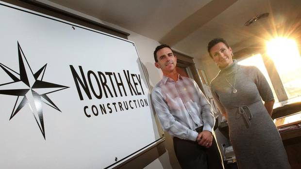 Michelle and Andrew Isbester are the co-owners of North Key Construction, the largest installer of solar photovoltaic power arrays in Canada. (Lars Hagberg/The Globe and Mail)