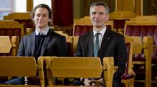 Fredric Bjorndal, left, with fellow MP Jens Stoltenberg, sees his election as 'strong symbolism.' (Arbeiderpartiet)