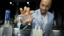 Grey Goose Le Fizz, a bubbly cocktail prepared by Dimi Lezinska, is photographed Sept. 4, 2012. (Moe Doiron/The Globe and Mail)