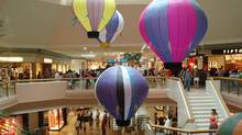 Scarborough Town Centre's iconic balloons were removed during renovations.