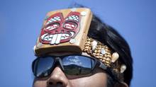 Chad Bright a member of the Nisga'a Nation during the 10th anniversary celebration of self governance in New Aiyansh in the Nisga'a Nation May 11, 2010. (John Lehmann/Globe and Mail/John Lehmann/Globe and Mail)