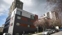 An apartment building that was renovated to add additional units in the west end of Vancouver. (DARRYL DYCK/THE GLOBE AND MAIL)