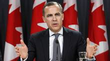 Bank of Canada Governor Mark Carney speaks during a news conference in Ottawa in this Nov. 26, 2012, file photo. (CHRIS WATTIE/REUTERS)