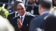 South Africa nPresident Jacob Zuma, arrives for his inauguration ceremony in Pretoria on May, 24, 2014.