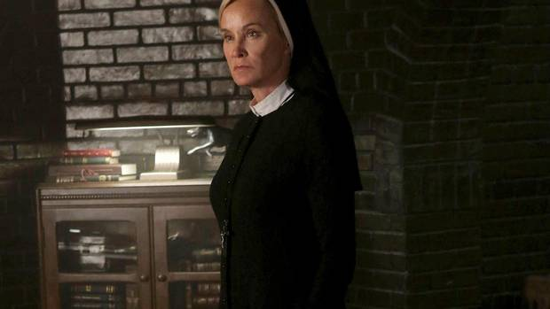 In this publicity image released by FX, Jessica Lange portrays Sister Jude in a scene from American Horror Story: Asylum. Lange was nominated for best actress in a miniseries or movie. (Byron Cohen/AP)