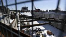 Work is continuing on the Steeles West Station on the Spadina subway extension project on March 6, 2015. (Fred Lum/The Globe and Mail)
