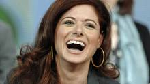 "Debra Messing at the panel discussion for the drama series ""Smash"" at the Television Critics Association Winter Press Tour in Pasadena, Calif., on Friday, Jan. 6, 2012. (AP)"