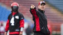 In his first season as a head coach, former quarterback Dave Dickenson took the Calgary Stampeders to 15 wins and the best record in the Canadian Football League. (Jeff McIntosh/THE CANADIAN PRESS)