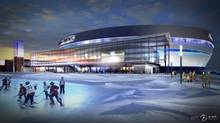 A proposed arena to NHL standards for Quebec City is shown in an artist's rendering released on Thursday, October 11, 2012. (THE CANADIAN PRESS)