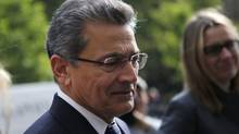 Former Goldman Sachs Group Inc board member Rajat Gupta (L) arrives at Manhattan Federal Court in New York June 14, 2012. (MIKE SEGAR/REUTERS)