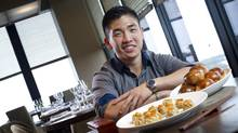 Chef Eric Chong, is seen at Canoe preparing Dim Sum Siu Mai (Dungeness crab and shrimp) and Char Siu Bao (Pork buns) in Toronto, Ontario, Tuesday May 13, 2014. (Kevin Van Paassen for The Globe and Mail)