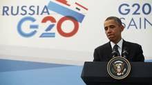 U.S. President Barack Obama speaks during a news conference at the G20 Summit in St. Petersburg September 6, 2013. (KEVIN LAMARQUE/REUTERS)