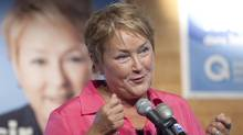 Parti Quebecois Leader Pauline Marois speaks at a rally Monday, August 6, 2012 during a campaign stop on the Magdalen Islands. (Jacques Boissinot/The Canadian Press)