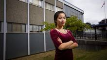 Student Sally Lin is pictured at Windemere Secondary School in Vancouver, on Sept. 1, 2014. (Ben Nelms for The Globe and Mail)
