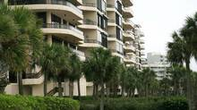 Condos that line the shore of the Gulf of Mexico in Longboat Key, Florida, back in 2008. (CRAIG LITTEN For the Globe and Mail)