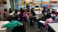 Teacher Manjeet Brar speaks to her Grade 5 students during class at Newton Elementary School in Surrey, B.C., in June 2012. (Darryl Dyck for The Globe and Mail)