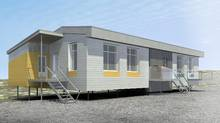 A new social housing unit is shown in a handout photo. Amid what experts are calling an acute accommodation shortage in Northern Canada, the Quebec government is preparing to test the unit it says is better adapted to harsh climates and Inuit culture. (THE CANADIAN PRESS)
