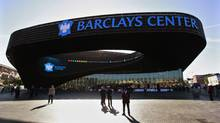 People arrive for the ribbon cutting ceremony at the Barclays Cente (BRENDAN MCDERMID/REUTERS)