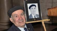 1) Val Werier at the Press Club award ceremony in the legislature, May 2012. (Winnipeg Press Club)