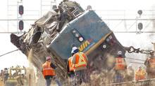 This announcement comes before the Transportation Safety Board issues its final findings on the 2012 Burlington VIA Rail derailment Tuesday. (Peter Power/The Globe and Mail)