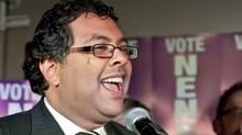 Naheed Nenshi on the campaign trail (Chris Bolin/Chris Bolin for The Globe and Mail)