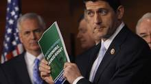 House Budget Committee Chairman Paul Ryan holds a news conference to unveil the Republicans' budget resolution in Washington March 12, 2013. (GARY CAMERON/Reuters)