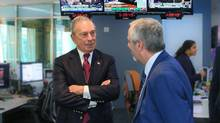 Bloomberg LP founder Michael R. Bloomberg and Channel Zero president Cal Millar. (Bloomberg)