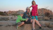 Mommy blogger Catherine Conners with her children Jasper Magill, 5, and Emilia Magill, 8. (Kyle Magill)
