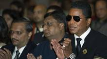 Jermaine Jackson, right, at the 2011 International Indian Film Academy press conference in Toronto on Thursday, June. 23. (CP)
