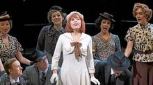 Jennifer Rider-Shaw as Peggy Sawyer with members of the company in 42nd Street. (David Hou)